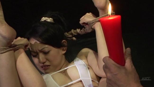 【おっぱい】全裸に下着にレオタードに!緊縛プレイで縛り上げられて吊るし上げられちゃっている女の子たちのおっぱい画像がエロすぎる!【30枚】 14