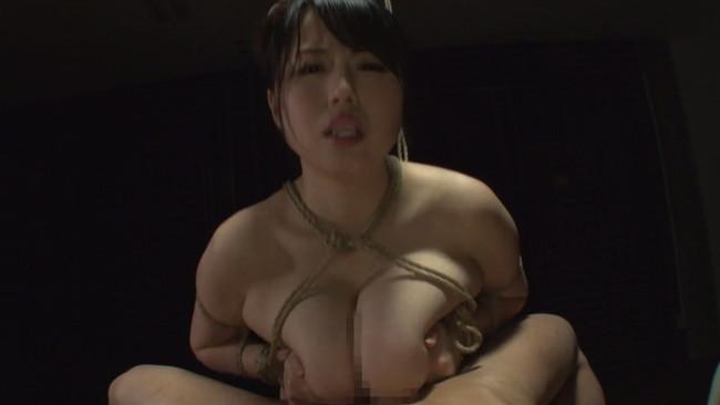 【おっぱい】Kカップ爆乳緊縛女肉責め!麻縄で絞め上げ、身動きの取れない状態のまま巨根を挿入されちゃう青木りんちゃんのおっぱい画像がエロすぎる!【30枚】 25