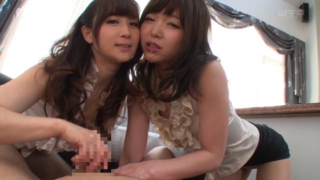 【おっぱい】二人の痴女の接吻漬けはいかが?優しく包み込むような痴女たちのおっぱい画像がエロすぎる!【30枚】 13